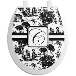 Toile Toilet Seat Decal - Round (Personalized)