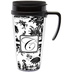 Toile Travel Mug with Handle (Personalized)