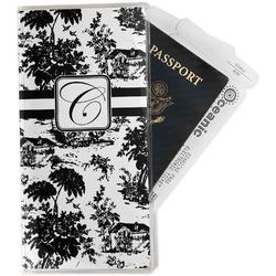Toile Travel Document Holder