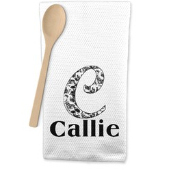 Toile Waffle Weave Kitchen Towel (Personalized)