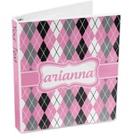 Argyle 3-Ring Binder (Personalized)