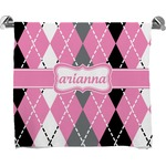 Argyle Full Print Bath Towel (Personalized)