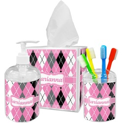 Argyle Bathroom Accessories Set (Personalized)