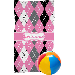 Argyle Beach Towel (Personalized)