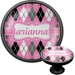 Argyle Cabinet Knob (Black) (Personalized)