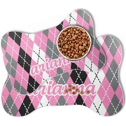 Argyle Bone Shaped Dog Food Mat (Personalized)