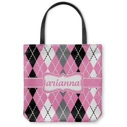 Argyle Canvas Tote Bag (Personalized)