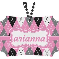 Argyle Rear View Mirror Ornament (Personalized)