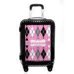 Argyle Carry On Hard Shell Suitcase (Personalized)