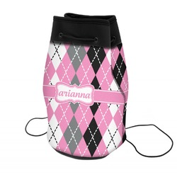 Argyle Neoprene Drawstring Backpack (Personalized)