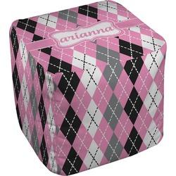 "Argyle Cube Pouf Ottoman - 18"" (Personalized)"