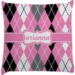 Argyle Decorative Pillow Case (Personalized)