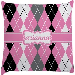 Argyle Decorative Pillow Case (Personalized)
