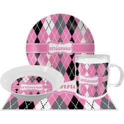 Argyle Dinner Set - 4 Pc (Personalized)