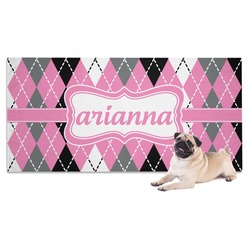 Argyle Dog Towel (Personalized)