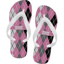 Argyle Flip Flops (Personalized)