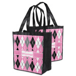 Argyle Grocery Bag (Personalized)