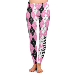 Argyle Ladies Leggings - Extra Large (Personalized)