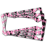 Argyle License Plate Frame (Personalized)