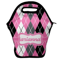 Argyle Lunch Bag w/ Name or Text