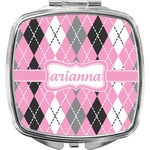 Argyle Compact Makeup Mirror (Personalized)