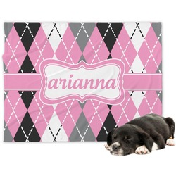 Argyle Minky Dog Blanket (Personalized)
