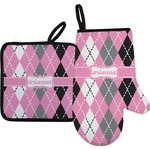 Argyle Oven Mitt & Pot Holder (Personalized)