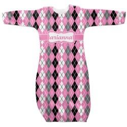 Argyle Newborn Gown (Personalized)
