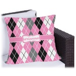 Argyle Outdoor Pillow (Personalized)