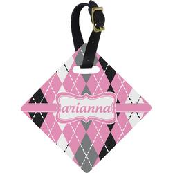 Argyle Diamond Luggage Tag (Personalized)