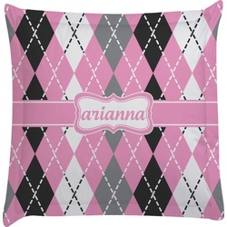 Argyle Euro Sham Pillow Case (Personalized)