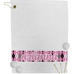 Argyle Golf Towel (Personalized)