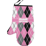 Argyle Left Oven Mitt (Personalized)