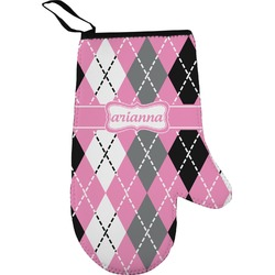 Argyle Right Oven Mitt (Personalized)