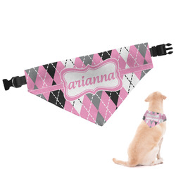 Argyle Dog Bandana (Personalized)