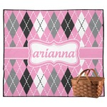 Argyle Outdoor Picnic Blanket (Personalized)