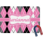 Argyle Rectangular Fridge Magnet (Personalized)
