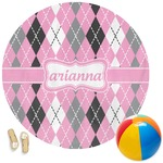 Argyle Round Beach Towel (Personalized)