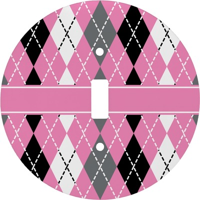 Argyle Round Light Switch Cover (Personalized)