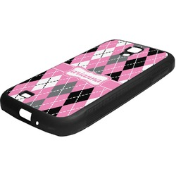 Argyle Rubber Samsung Galaxy 4 Phone Case (Personalized)