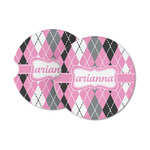 Argyle Sandstone Car Coasters (Personalized)