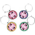 Argyle Wine Charms (Set of 4) (Personalized)