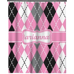 "Argyle Extra Long Shower Curtain - 70""x84"" (Personalized)"