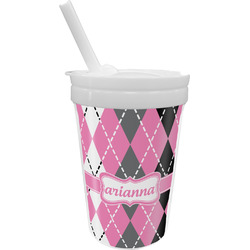 Argyle Sippy Cup with Straw (Personalized)