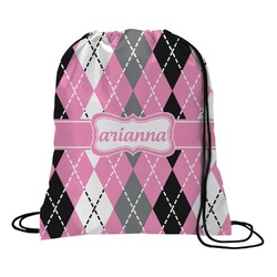 Argyle Drawstring Backpack (Personalized)