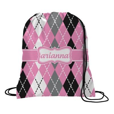Argyle Drawstring Backpack (Personalized)