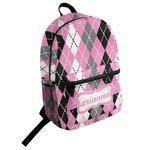 Argyle Student Backpack (Personalized)