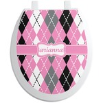 Argyle Toilet Seat Decal (Personalized)