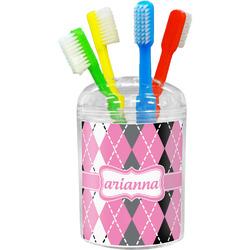 Argyle Toothbrush Holder (Personalized)