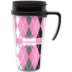 Argyle Travel Mug with Handle (Personalized)